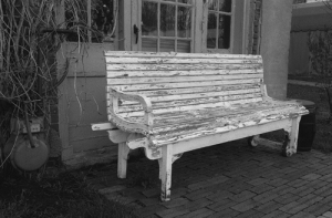 """Weathered bench"" Pella, Iowa"
