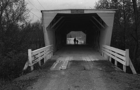 "Built in 1883 Cedar Bridge of the ""Bridges of Madison County"""