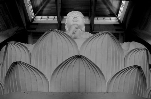 Buddha Vairocana the largest indoor Buddha statue in the western hemisphere.