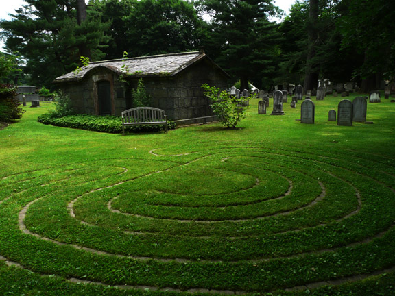 The Meditaton Garden at St James Episcopal Church in Hyde Park, NY.